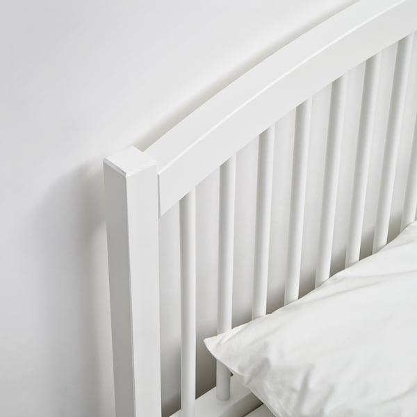 TYSSEDAL Bed frame, white/Luröy, Full