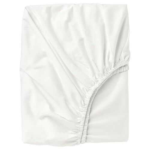 """ULLVIDE fitted sheet white 200 square inches 80 """" 60 """" 15 """""""