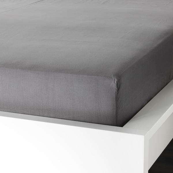 ULLVIDE Sheet set, gray, King
