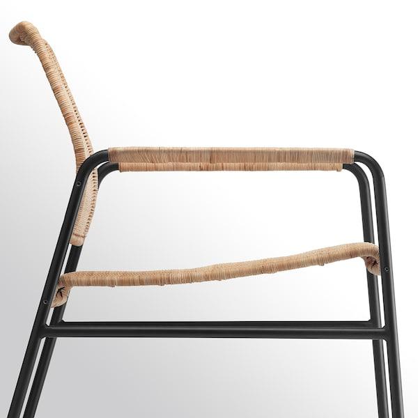 "ULRIKSBERG armchair rattan/anthracite 29 7/8 "" 26 3/8 "" 29 1/8 "" 29 7/8 "" 7 7/8 "" 2 1/2 "" 21 1/4 "" 23 5/8 "" 23 5/8 "" 14 5/8 "" 243 lb"