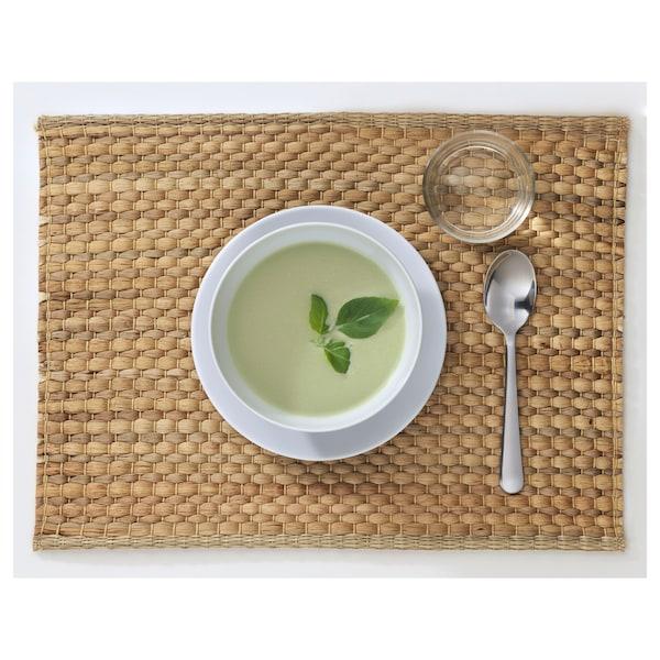 "UNDERLAG Place mat, water hyacinth/natural, 14x18 """