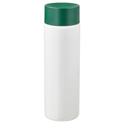 UNDERSÖKA Insulated steel flask, white/green, 14 oz