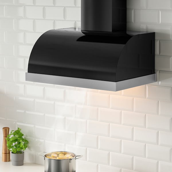 UNGDOMLIG Wall mounted range hood, black