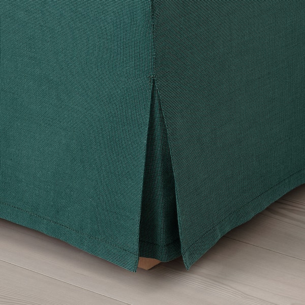 UPPLAND Cover for sofa, with chaise/Totebo dark turquoise