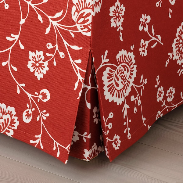 UPPLAND Cover for sofa, with chaise/Virestad red/white