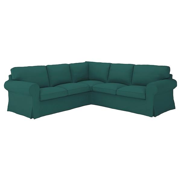 UPPLAND Sectional, 4-seat corner, Totebo dark turquoise