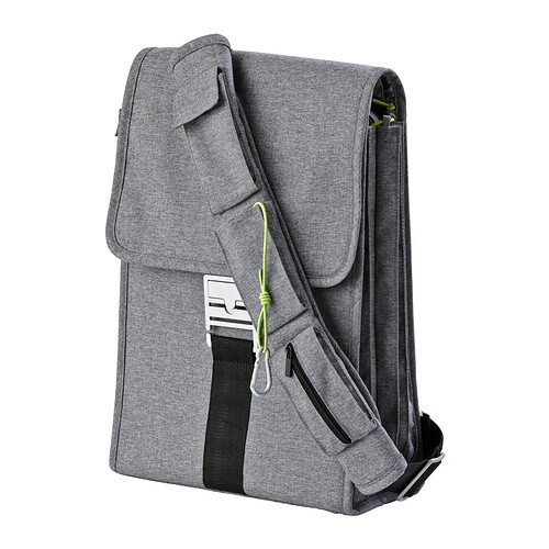 UPPTÄCKA Laptop backpack   Attach the strap in different ways to wear the backpack across your body or carry it over one shoulder.