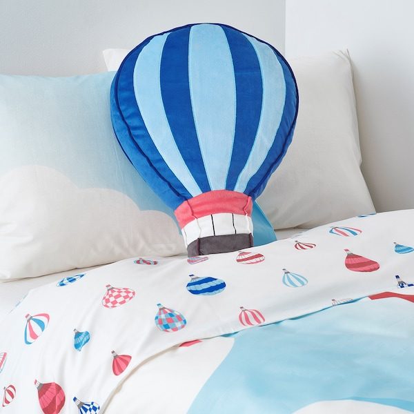 "UPPTÅG Cushion, blue, 19x14 """
