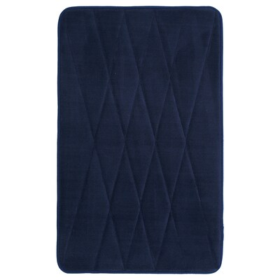 UPPVAN Bath mat, dark blue, 20x32 ""