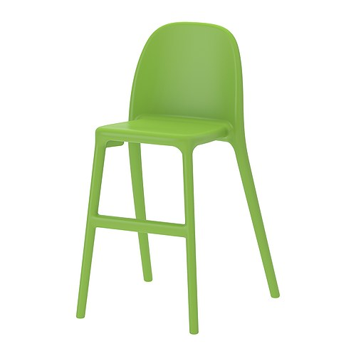 URBAN Junior chair   Gives the right seat height for the child at the dining table.  Easy to keep clean.  Stackable to save space when not in use.