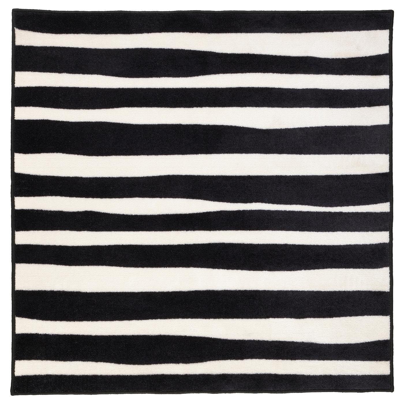 Urskog Rug Low Pile Zebra Striped Ikea