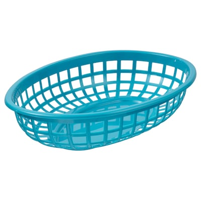 "UTEFEST serving basket turquoise 9 ½ "" 6 "" 2 """