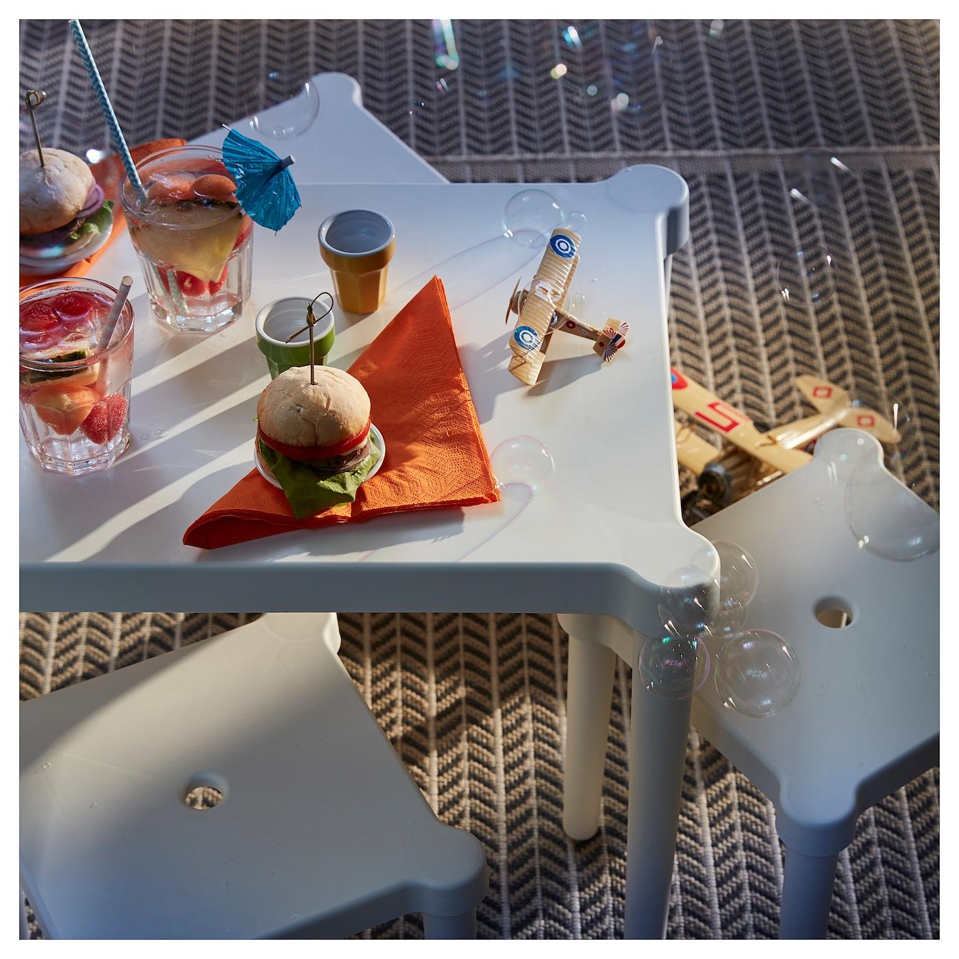 UTTER Children's table, indoor/outdoor/white