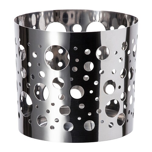 VACKERT Decoration for candle in glass   The shiny metal decorative holder has a pattern that creates an exciting accent in the room.