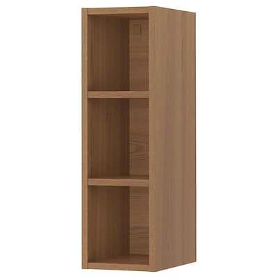 """VADHOLMA Open storage, brown/stained ash, 9x14 3/8x30 """""""