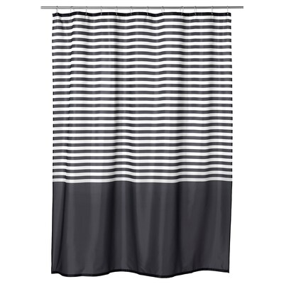 "VADSJÖN shower curtain dark gray 0.20 oz/sq ft 71 "" 71 "" 34.88 sq feet 0.20 oz/sq ft"