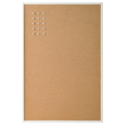 VÄGGIS Memo board with pins, white, 22 ¾x15 ¼ ""