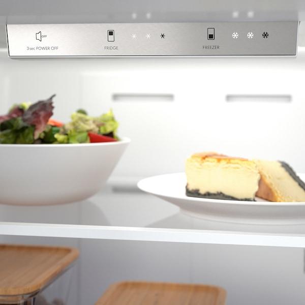VÄLGRUNDAD Bottom-freezer refrigerator, Stainless steel, 19 cu.ft