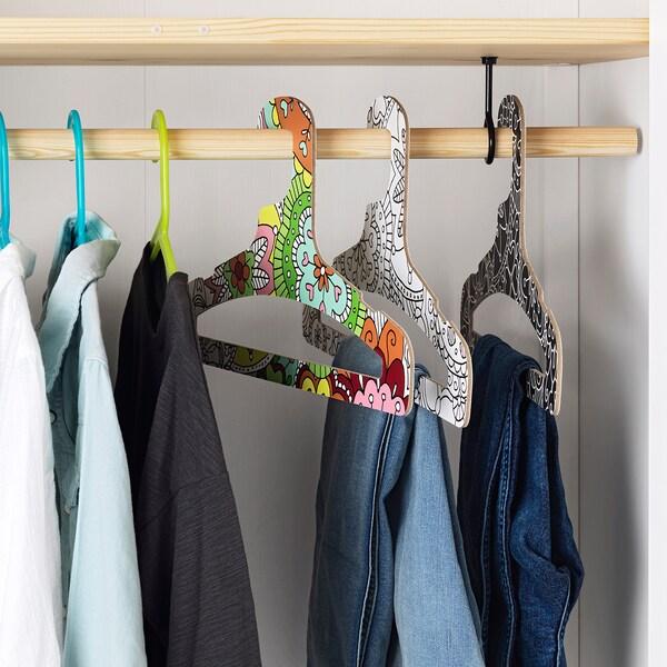 VÄNSKAPLIG children's coat-hanger 3 pack