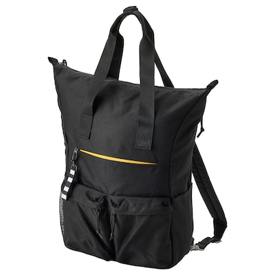 """VÄRLDENS Backpack, black, 12 ¼x6x19 ¼ """"/7 gallon"""