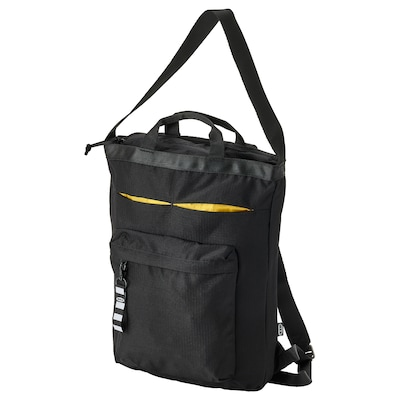 """VÄRLDENS Travel tote bag, black, 11x4 ¾x17 ¼ """"/4 gallon"""