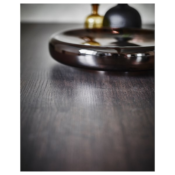 """VÄSTANBY Table, dark brown/Västanå dark brown, 66 7/8x30 3/4 """""""