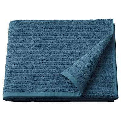 "VÅGSJÖN Bath towel, blue, 28x55 """