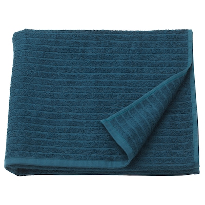 "VÅGSJÖN Bath towel, dark blue, 28x55 """