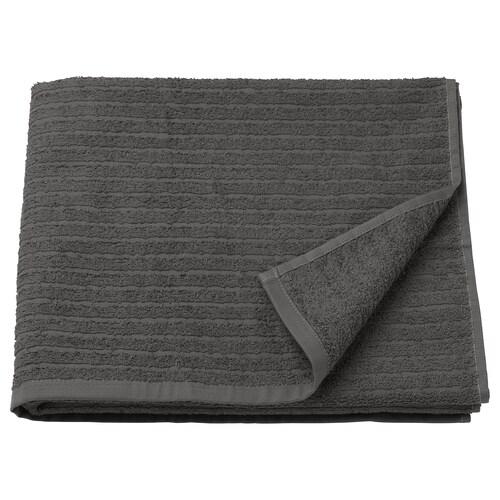 """VÅGSJÖN bath towel dark gray 55 """" 28 """" 10.55 sq feet 1.31 oz/sq ft"""