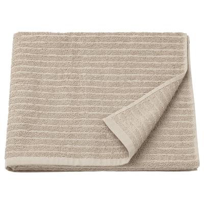 """VÅGSJÖN Bath towel, light beige, 28x55 """""""