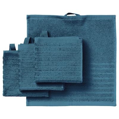 "VÅGSJÖN Washcloth, blue, 12x12 """