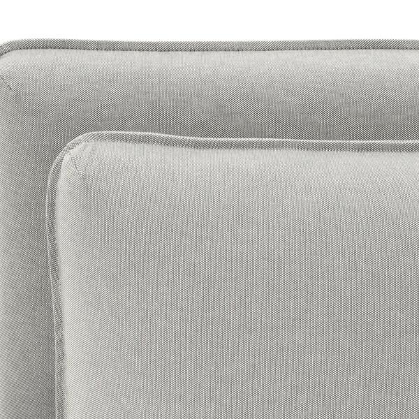 VALLENTUNA Mod sofa, 2 seat w 2 slpr sections, Orrsta light gray