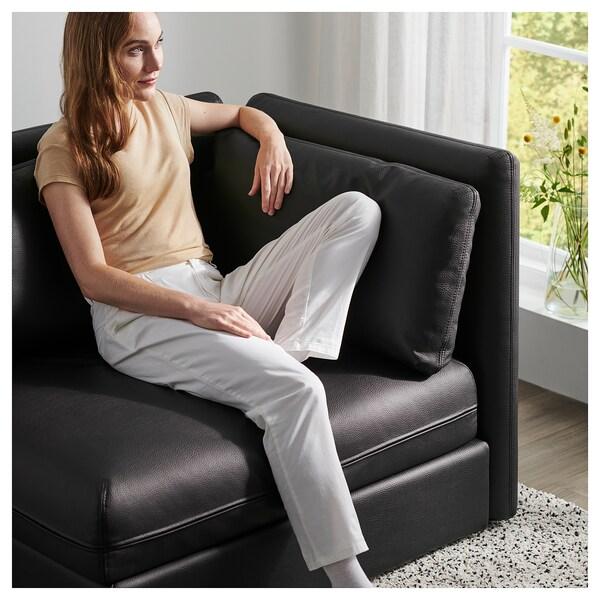 VALLENTUNA Mod sofa, 2 seat w slpr section, and storage/Murum black