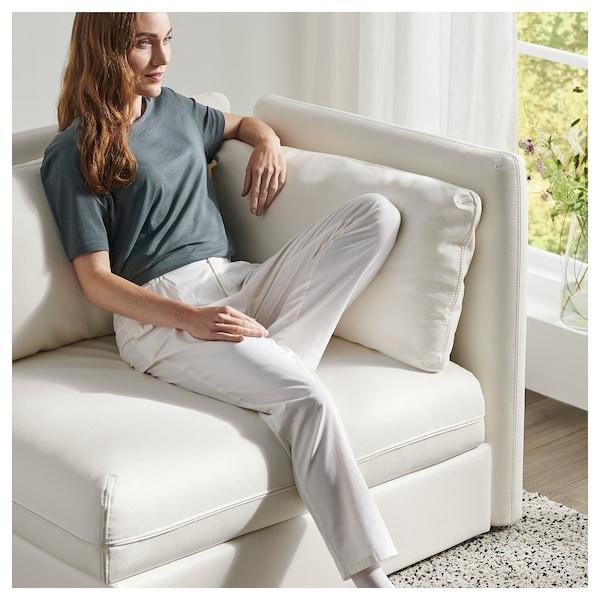 VALLENTUNA Mod sofa, 2 seat w slpr section, and storage/Murum white