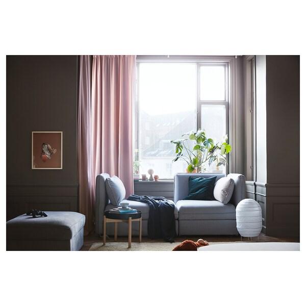 VALLENTUNA Mod sofa, 2 seat w slpr section, and storage/Orrsta light gray
