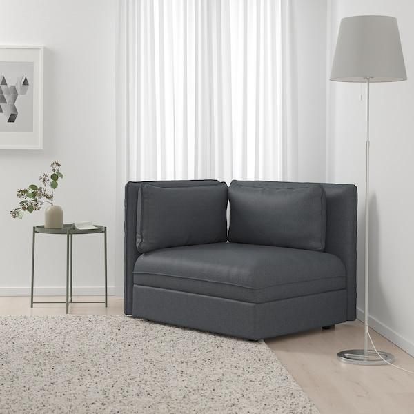 VALLENTUNA Sectional, 1-seat, Hillared dark gray