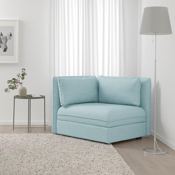 VALLENTUNA Sectional, 1-seat, Hillared light blue