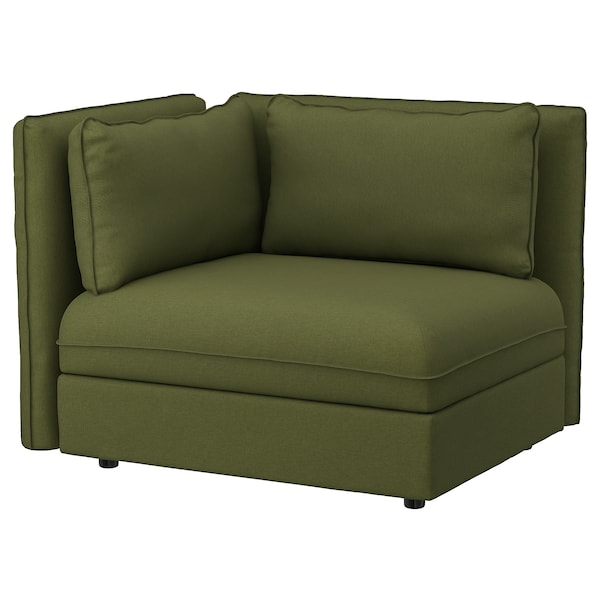 VALLENTUNA Sectional, 1-seat, Orrsta olive-green