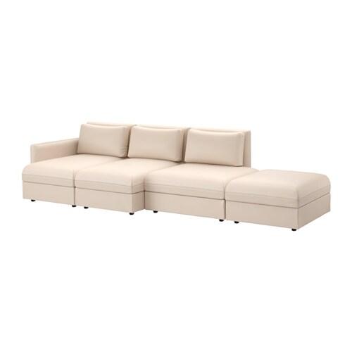 vallentuna sectional 4 seat murum beige ikea. Black Bedroom Furniture Sets. Home Design Ideas