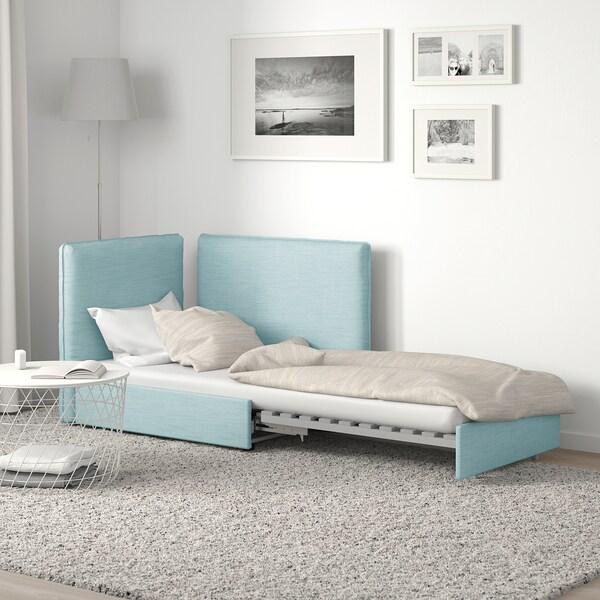 VALLENTUNA Sleeper module with backrests, Hillared light blue