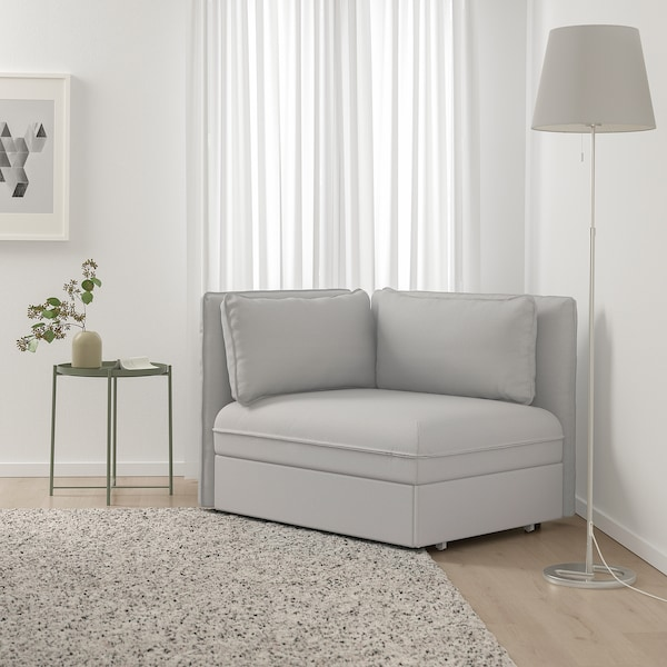 VALLENTUNA Sleeper module with backrests, Orrsta light gray