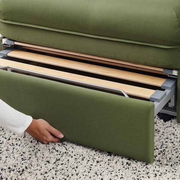 VALLENTUNA Sleeper module with backrests, Orrsta olive-green