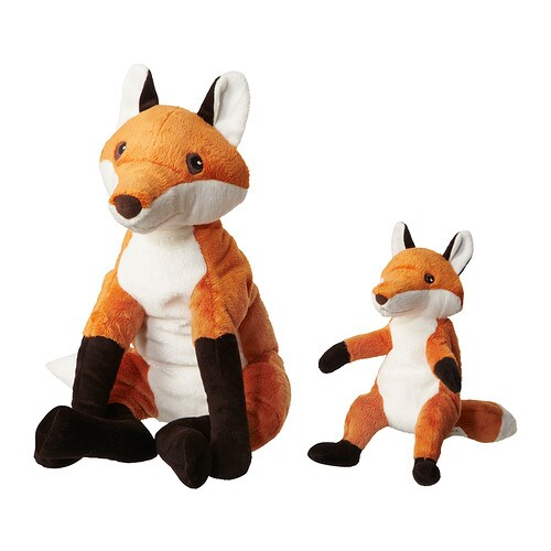 VANDRING RÄV Soft toy, set of 2   All soft toys are good at hugging, comforting and listening and are fond of play and mischief.