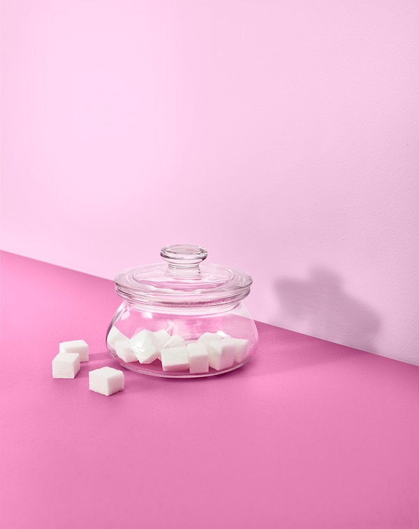 VARDAGEN Jar with lid, clear glass, 10 oz