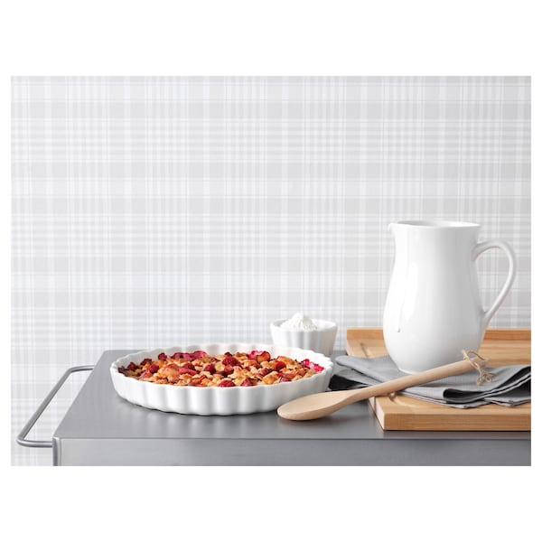 "VARDAGEN Pie plate, off-white, 13 """