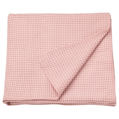 "VÅRELD bedspread light pink 98 "" 91 """