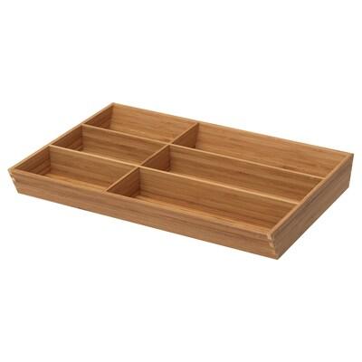 """VARIERA flatware tray bamboo 11 ¾ """" 15 """" 19 ¾ """" 2 1/8 """""""