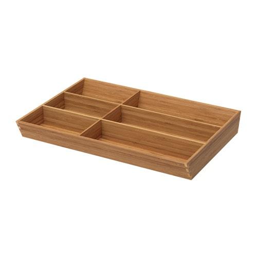 Variera flatware tray ikea for Bamboo kitchen cabinets ikea