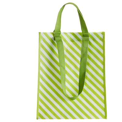 "VÅRKÄNSLA bag green striped 11 ¾ "" 7 "" 15 """