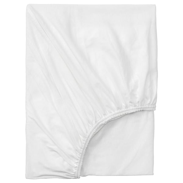VÅRVIAL Twin fitted sheet, white, Twin